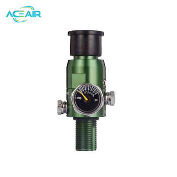 4500PSI HPA Air Tank Regulator Valve Output Pressure 1800PSI M18*1.5 GREEN