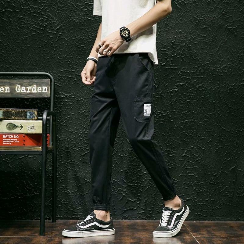 Summer Capri Pants Workwear Pants Men Korean-style Trend Ankle Banded Pants Loose Harem Pants Slim Fit Pants Casual Pants