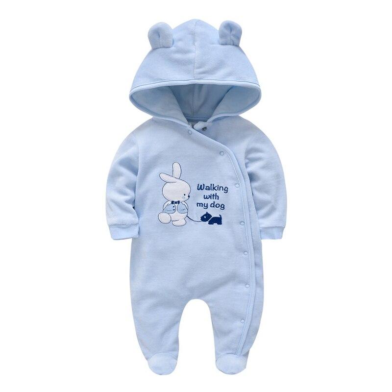 Pasgeboren Baby Rompertjes Winter Baby Jongens Meisjes Kleding Plus Fluwelen Warme Zuigeling Algehele Peuter Jumpsuit Pasgeboren Kostuum Een Stuk 1