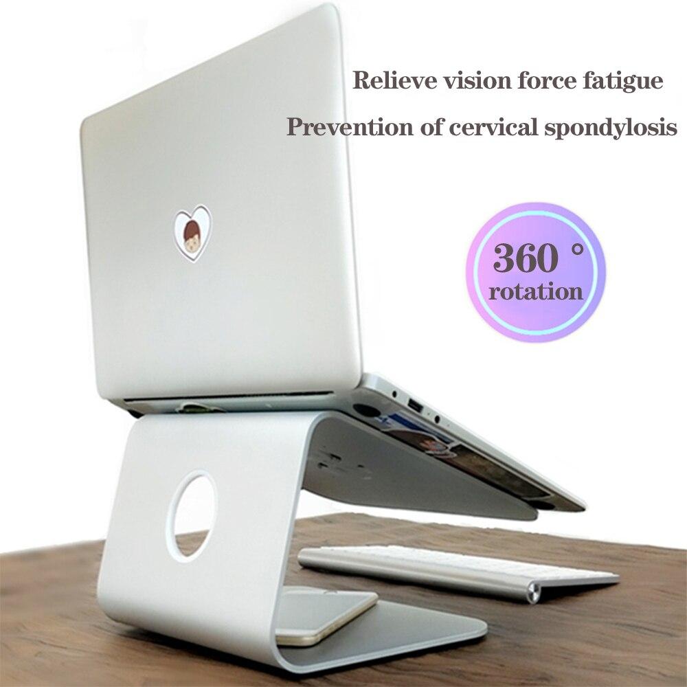 Laptop Stand Aluminum Alloy Cooling Holder Desktop Ergonomics Heighten Notebook Support for MacBook Air Pro Stand Standard Version