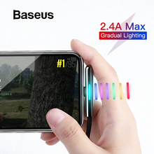 Baseus Colorful Gradual Lighting USB Cable for iPhone xr x Charger 8 7 plus Mobile Game Charging
