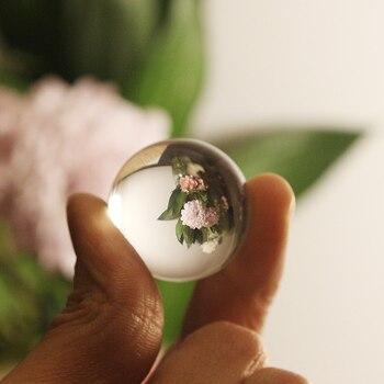 1PC Künstliche Kristall Klar Glas Kristall Ball Healing Kugel Fotografie Requisiten Lensball Decor Geschenk 80mm