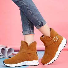 Rimocy Winter Platform Snow Boots Women Warm Thicken Plush B