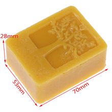1Pc Organic Beeswax Cosmetic Grade Filtered Natural Pure Bees Wax 70*53*28mm