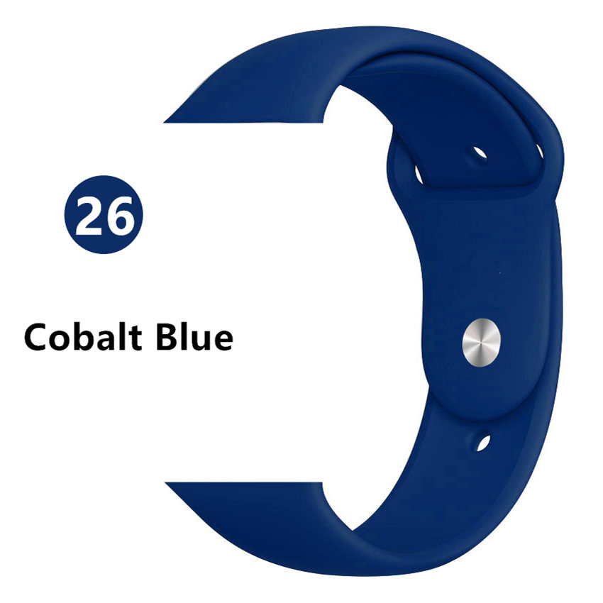 Ремешок для apple watch band 44 мм/40 мм iwatch band 5 4 42 мм 38 мм correa pulseira watch band для apple watch 5 4 3 браслет 44 мм - Цвет ремешка: Cobalt blue