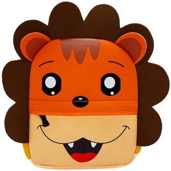 3D Cartoon Children Backpacks School Bags Baby Cut Toddler Kids Bag Neoprene Animal Backpack Kindergarten Bag Girl Boys 1-5Y - YT001-A3