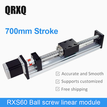 700mm cnc linear guides and rail motorized linear module actuator for woodworking machinery 3d printer