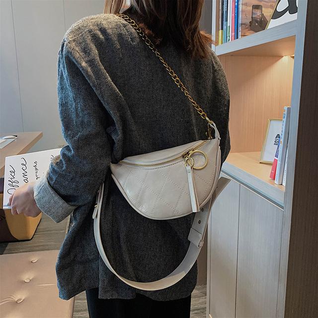 Retro Leather Crossbody Bag For Women 2019 Small Lady Shoulder Messenger Bag Diamond Lattice Handbags and Purses Chain Chest Bags