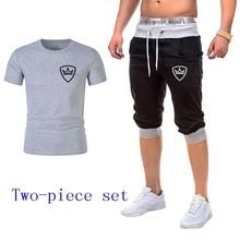 цены New men's sportswear running suit sportswear short-sleeved clothes fitness basketball tennis fitness clothes sports suit