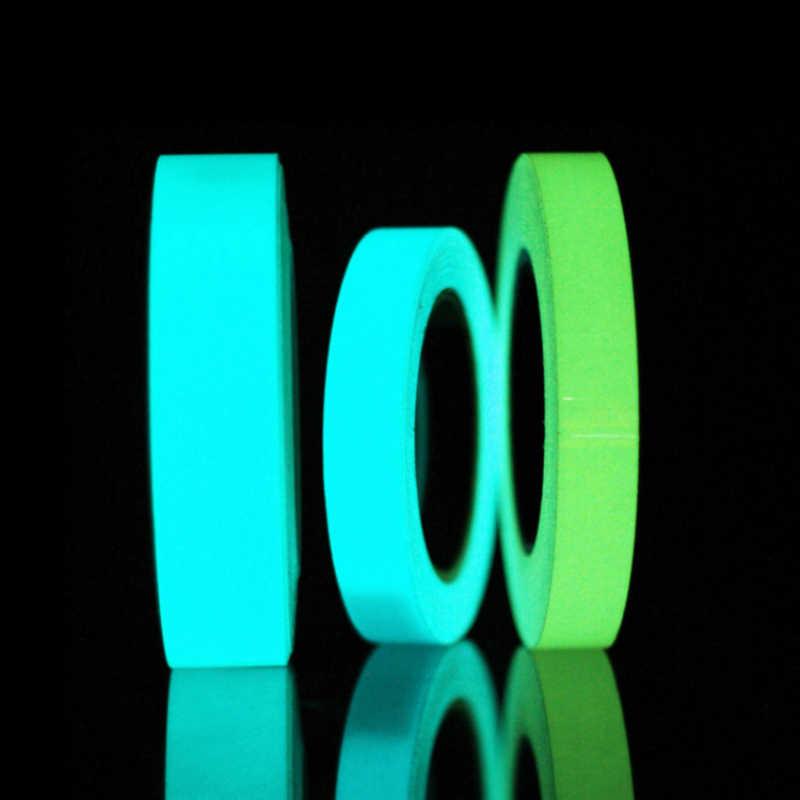 Светящаяся флуоресцентная лента самоклеящаяся светится в темноте наклейка лента безопасности Предупреждение льная лента