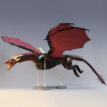 K89 K90 Movie Toys The Game of Throne Drogon and Viserion Dragon Model Toys Assembly Kits Building Blocks Kids Christmas Gifts