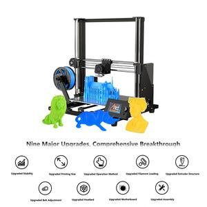 Image 3 - Anet A8 Plus ulepszony pulpit drukarki 3D i3 zestawy DIY samodzielnego montażu rozmiar wydruku 300*300*350mm Panel sterowania LCD