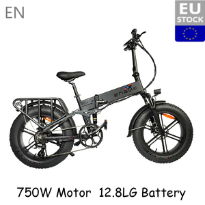 (EU STOCK) Electric bike 48V12.8A LG 20*4.0 Fat Tire electric Bicycle 750W Powerful Mountain ebike Snow/8Speeds Full throttle