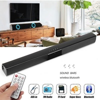 2019 New 550mm(21.65inch) Wireless Bluetooth Soundbar Hi Fi Stereo Speaker Home Theater TV Strong Bass Sound Bar Subwoofer with