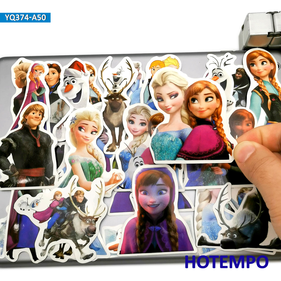 50pcs Cute Anime Princess Elsa Anna Movie Stickers Toys For Children Scrapbook Stationery Mobile Phone Laptop Luggage Stickers