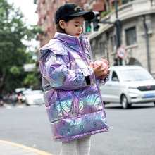 -30℃ children clothes 2020 big girls Teen clothing warm down cotton winter jackets hooded coat thicken outerwear kids parka 2(China)