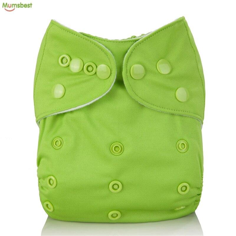 Купить с кэшбэком [Mumsbest] Baby Cloth Pocket Nappy Reusable Washable Green Waterproof Pockets Nappy Popular Wet Bag Nappy Bags 30X40CM 2 Pocket