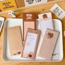 50 folhas bonito urso bloco de memorando lista de compras almofadas bloco de notas planejador de papel material escolar de escritório