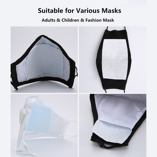 50pcs Mask Filter Paper 5-layer Filtration Safety Protection Anti Flu Activated Carbon Antiflu Mask Anti Dust PM2.5 ffp3 3