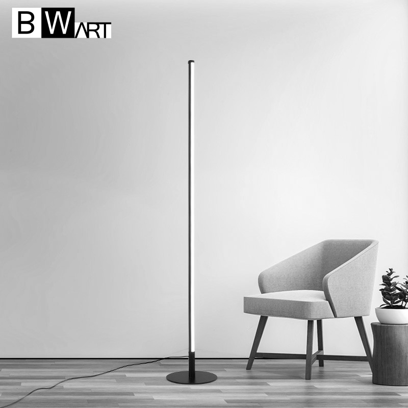 BWART modern Led Floor Lamp Aluminum Extremely simple art standing light For Living room bedroom room porch Standing light