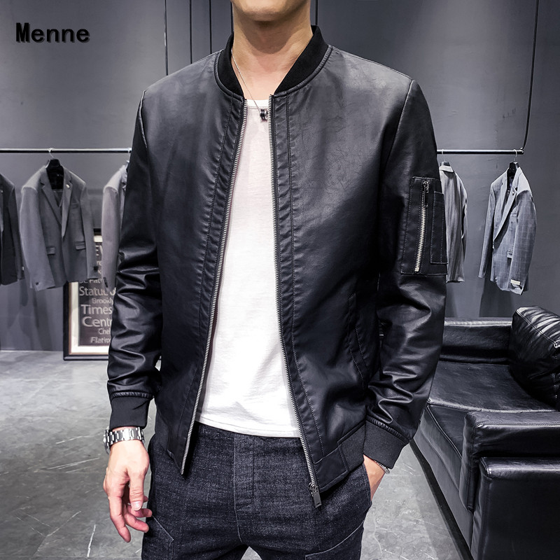 2019 New Men's Jacket\ Winter Leather  /Baseball Uniforms