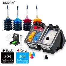 DMYON 304 XL pojemnik z tuszem 2018 nowa wersja drukarki kompatybilny dla hp 304 dla Envy 5010 5020 5030 5032 5034 5052 5055 drukarki