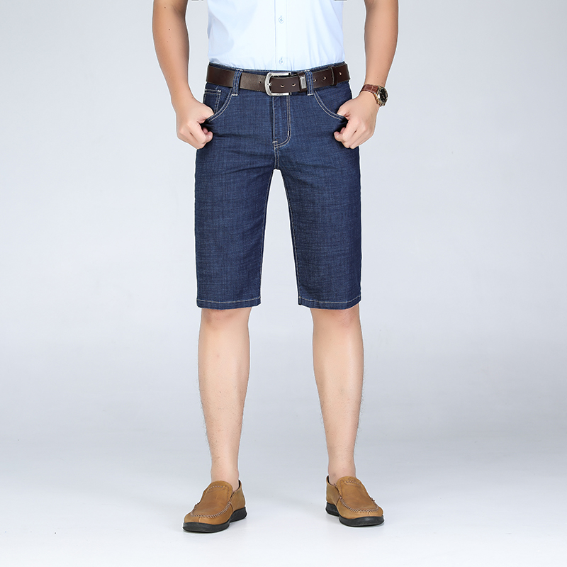 Big Size 40 42 44 46 Men Denim Shorts 2019 Summer New Fashion Business Elastic Slim Short For Jeans Male Brand Clothes