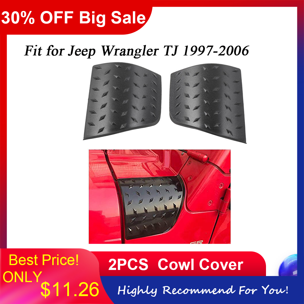 Car Accessories Cowl Body Armor Corner Guard Cowling Cover for Jeep Wrangler TJ 1997-2006