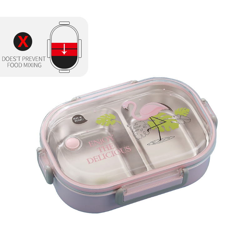 WORTHBUY японский Ланч-бокс для детей школы 304 из нержавеющей стали бенто Ланч-бокс герметичный контейнер для еды детская коробка для еды - Цвет: C Pink