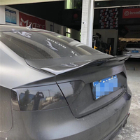 Use for Audi A5 S5 sedan spoiler 2009 2015 year 4 door real glossy carbon fiber rear wing sport accessories body kit