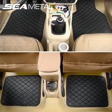 Universal Car Floor Mats PU Leather Car Foot Pad Interior Automobiles Foot Carpet Waterproof Mat on Auto Rugs Goods Accessories(China)