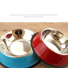 1 pc New High Quality Stainless Steel Pet Bowls  Dog Puppy Cats Food Water Feeder Pets Supplies Feeding Dishes Dogs supplies