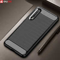 Armor Case for Huawei Y9S Case Shockproof Cover Carbon Fiber Silicone Case for Huawei Y9s STK-L21 honor 9X HLK-AL10 AL00 Case
