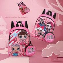 Новый LoL сюрприз куклы милые дети Рюкзак школьный мультфильм девочка напечатано двойной молнии рюкзак тенденция сумки день рождения подарки для девочек