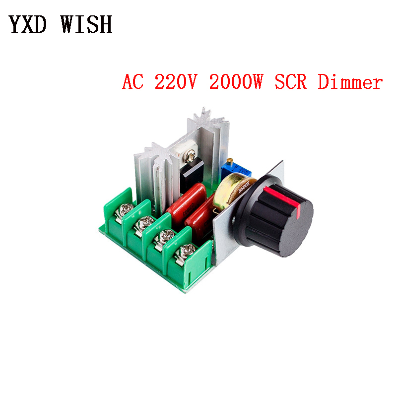 AC 220V 2000W SCR Motor Speed Controller Voltage Regulator Dimming Thermostat Electronic Motor Speed Regulator 220 V Dimmers