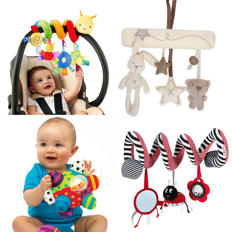 Soft Infant Crib Bed Stroller <font><b>Toy</b></font> Spiral <font><b>Baby</b></font> <font><b>Toy</b></font> For Newborns Car Seat Educational Rattles <font><b>Baby</b></font> Towel <font><b>baby</b></font> <font><b>Toys</b></font> 0-12 months image