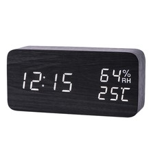 New-Modern Led Alarm Clock Temperature Humidity Electronic Desktop Digital Table Clocks(China)