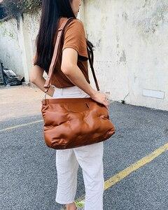 Image 4 - High Quality Down Space Pillow Pu Leather Crossbody Messenger Bag Shoulder Bag Purses and Handbag for Women Clutch Bag Envelope
