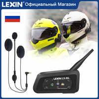 Lexin R6 Bluetooth Helm Headsets Intercom für 6 Fahrer BT 1PCS Wasserdicht & Wireless Moto Sprech MP3