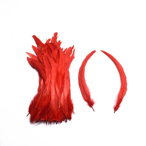 Image 5 - 100 個ホワイトルースターの尾羽工芸品 30 35 センチメートル DIY ナチュラル羽ジュエリーカーニバルクリスマスパーティーウェディング装飾