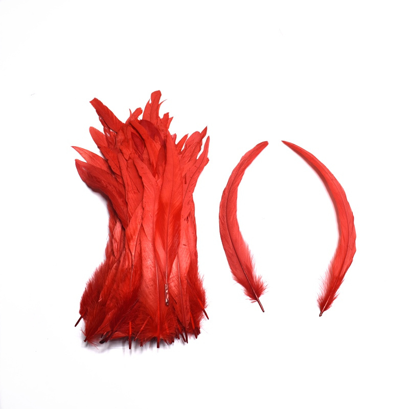 Image 5 - 100pcs White Rooster Tail Feathers for Crafts 30 35cm DIY Natural Feathers Jewelry Carnival Christmas Party Wedding DecorativeFeather   -