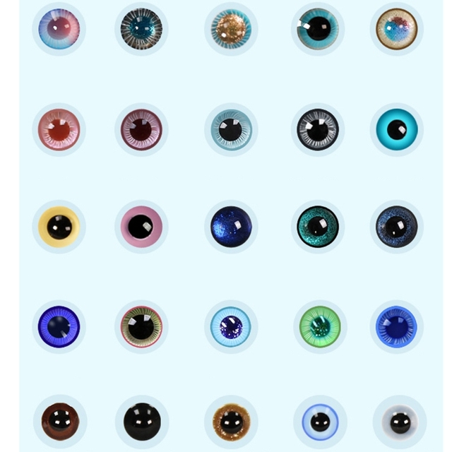 For Bjd Eyeball 14mm Glass Material Green Blue Eyes Suitable For 1/3 1/4 Doll Accessories 5