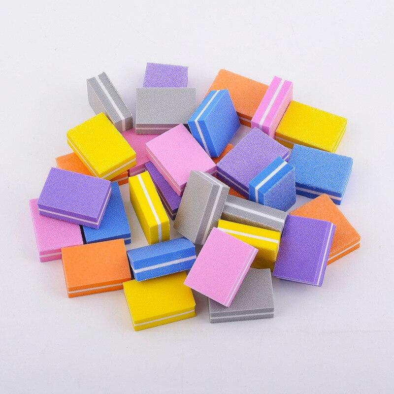 25/50pcs lot Double-sided Mini Nail File Blocks Buffer Sponge Nail Professional Nail Tools Double sided Pedicure Manicure File