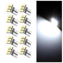 10 adet T10 LED W5W 194 168 plaka ışıkları 9SMD Led araba oto mobil Marker ampul iç lambaları lambaları sinyal lambası DC 12V
