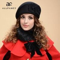 ALLFANCY new Korean women's wide brimmed hat fashion atmosphere autumn and winter wool berets ladies hats England van hat hat