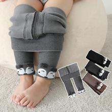 Зимние плотные теплые штаны для маленьких девочек; Повседневные
