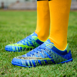 Image 2 - Unhas longas explosivas e sapatos de futebol quebrados, esportes macios e leves respirável sapatos de futebol da forma das crianças