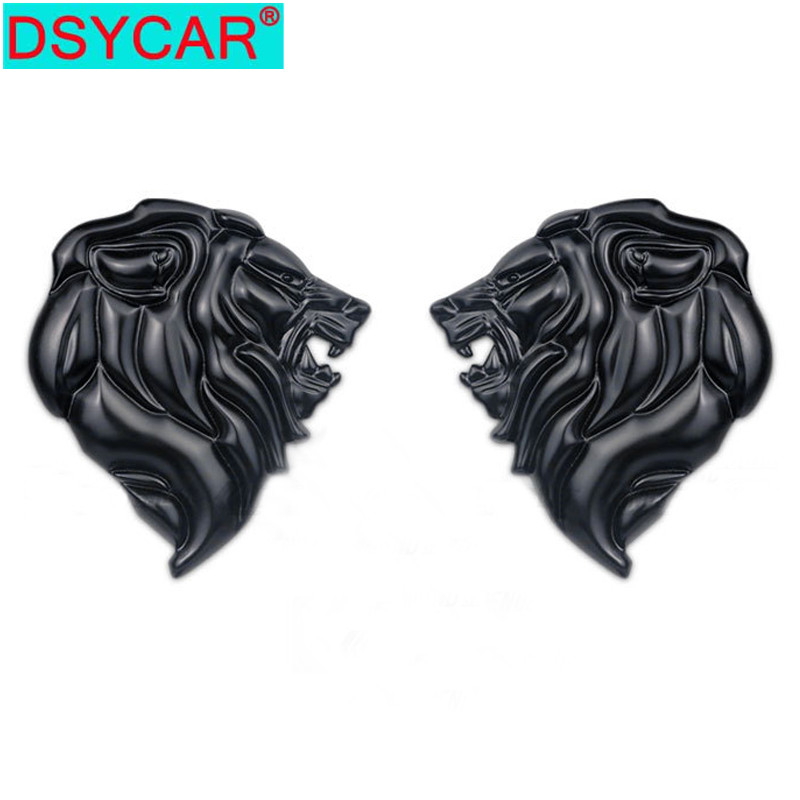 DSYCAR 1Pcs Badge Logo Car Sticker Reflective Decal Auto Decoration Badge Motorcycle Lion Head Emblem 3D Metal Windshield New(China)