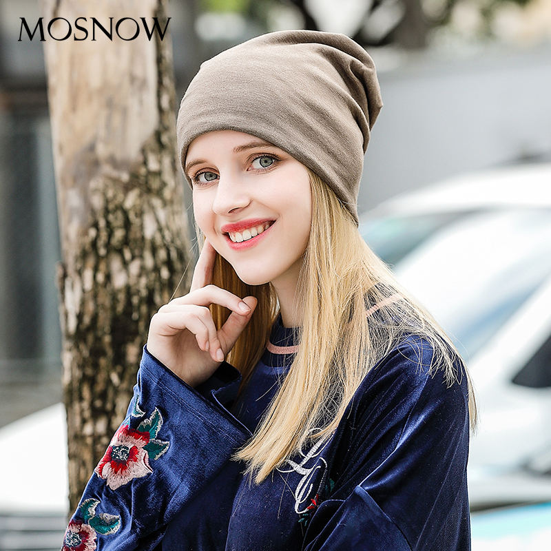 Female Winter Hats   Beanie   Cotton Solid High Quality 2019 Autumn Winter Fashion New Women   Beanies     Skullies   Bonnet Femme #MZ820