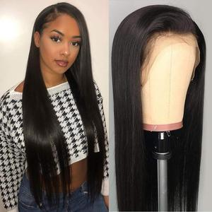 Ali Annabelle 13X4 Lace Front Wig Peruvian Straight Human Hair Wigs Pre Plucked Hairline With Baby Hair 360 Lace Frontal Wig